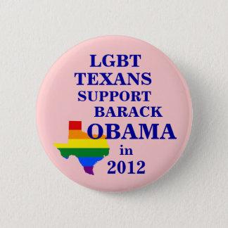 LGBT Texans for Obama 2012 6 Cm Round Badge