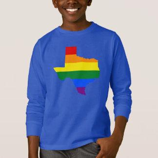 LGBT Texas, US state flag map T-Shirt