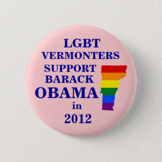 LGBT Vermonters for Obama 2012 6 Cm Round Badge