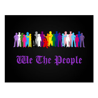 LGBT We The People design Postcard