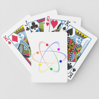 LGBT Whirling Atoms Bicycle Playing Cards