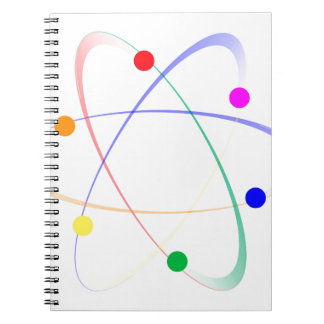 LGBT Whirling Atoms Notebook