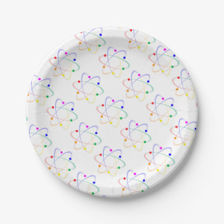 LGBT Whirling Atoms Paper Plate