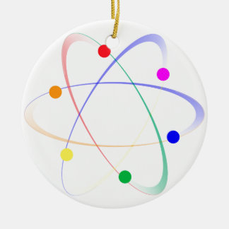 LGBT Whirling Atoms Round Ceramic Decoration