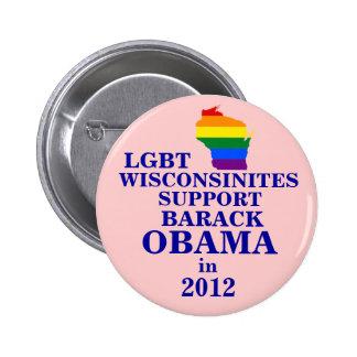 LGBT Wisconsinites for Obama 2012 Pins