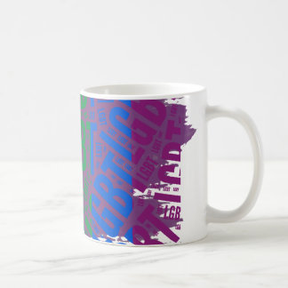 LGBT WORD PATTERN COLOR -.png Coffee Mugs