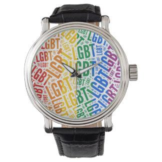 LGBT WORDS RAINBOW -.png Wristwatch