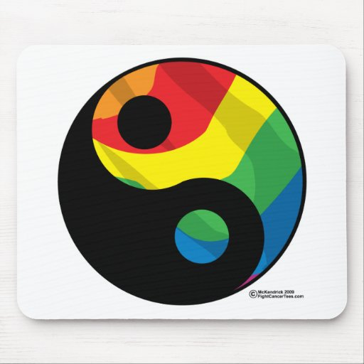 LGBT Ying Yang Mouse Pad