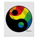 LGBT Ying Yang Print