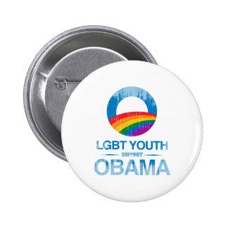 LGBT YOUTH SUPPORT OBAMA Vintage.png 6 Cm Round Badge