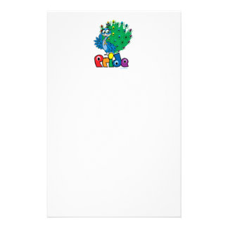 LGBTQ Peacock Personalized Stationery