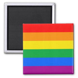 LGBTQ Pride Flag Square Magnet