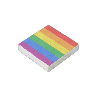 LGBTQ Pride Flag Stone Magnet