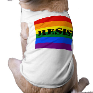 lgbtq resist sleeveless dog shirt