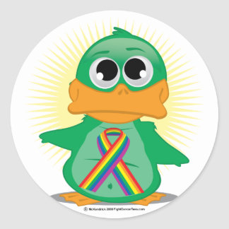 LGBTQ Ribbon Duck Classic Round Sticker