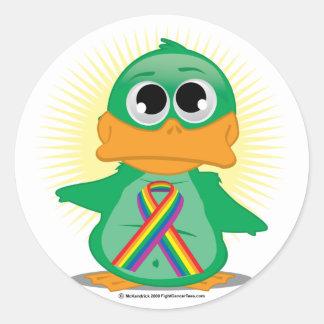 LGBTQ Ribbon Duck Round Sticker