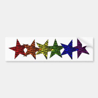 LGBTQ Star PRide Equality Bumper Sticker