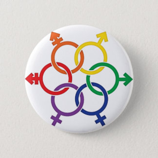 LGBTQ United 6 Cm Round Badge