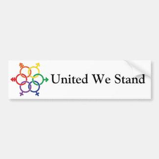 LGBTQ United Car Bumper Sticker