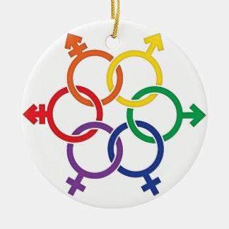 LGBTQ United Round Ceramic Decoration
