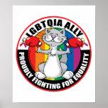 LGBTQIA Ally Cat Poster