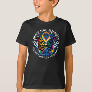 LGBTQIA Butterfly Tribal T-Shirt