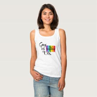 LGBTQIA Pride Gay Is Beautiful ok.OK. LGBT Love Tank Top