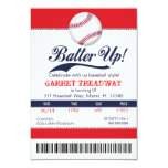 "LGC Batter Up Baseball Ticket 2nd Version 3.5"" X 5"" Invitation Card"
