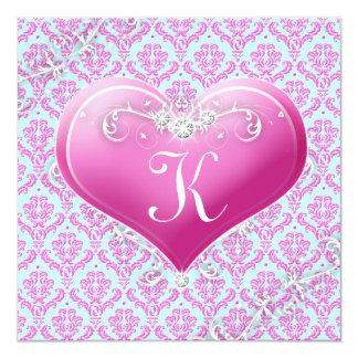 "LGC | Kid's Customizable Valentine 5.25"" Square Invitation Card"
