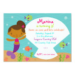 LGC The Merry Mermaid  African American Personalized Announcements