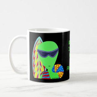 LGM Alien Vacation Geek Humor World's Coolest Dad Mug