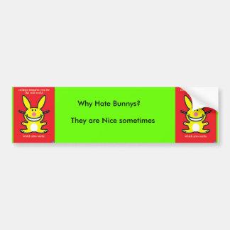 lgpp30146, lgpp30146, Why Hate Bunnys?, They ar... Bumper Sticker