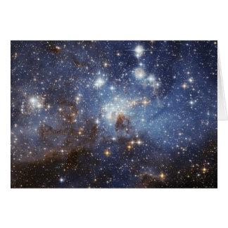 LH 95 Star forming region NASAs Card