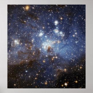 LH 95 Star forming region NASAs Poster