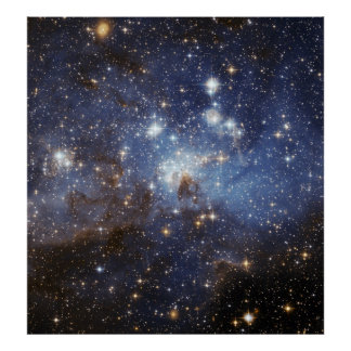 LH 95 stellar nursery space photography Poster