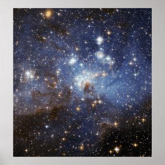 LH 95 stellar nursery space photography Poster
