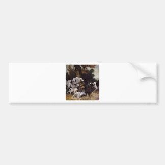L'hallali du loup by Jean-Baptiste Oudry Bumper Sticker