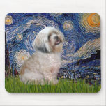 Lhasa Apso 10 - Starry Night Mouse Pad