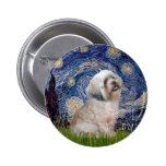 Lhasa Apso 10 - Starry Night Pinback Buttons