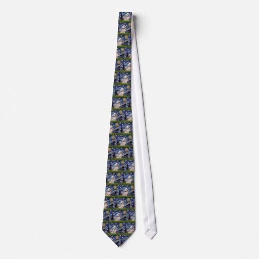 Lhasa Apso 10 - Starry Night Tie