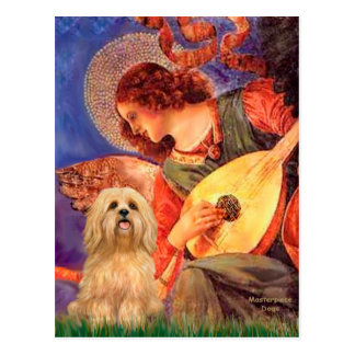 Lhasa Apso 9 - Mandolin Angel Postcard