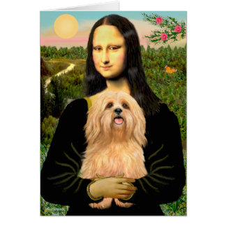 Lhasa Apso 9 - Mona Lisa Card