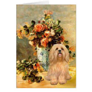 Lhasa Apso 9 - Vase of Flowers Card