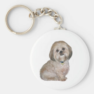Lhasa Apso (A) - golden / cream Key Ring