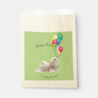 Lhasa Apso and Yellow Roses Favour Bags