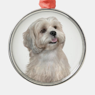 Lhasa Apso (C) - Light gold Christmas Ornament
