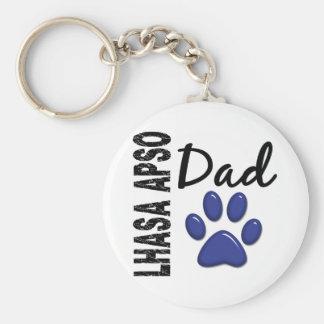 Lhasa Apso Dad 2 Basic Round Button Key Ring