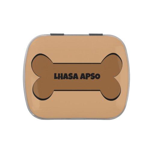 Lhasa Apso Dog Bone Candy Tin