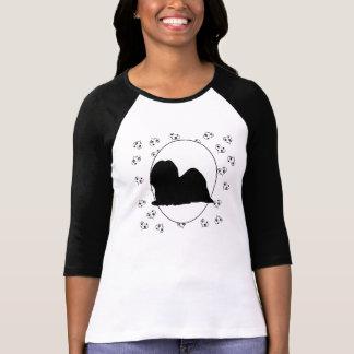 Lhasa Apso Hearts and Pawprints T-Shirt