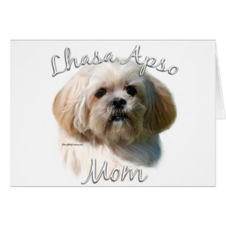 Lhasa Apso Mom 2 Card